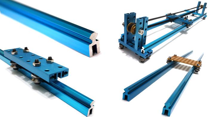 Super flexible sliding rail