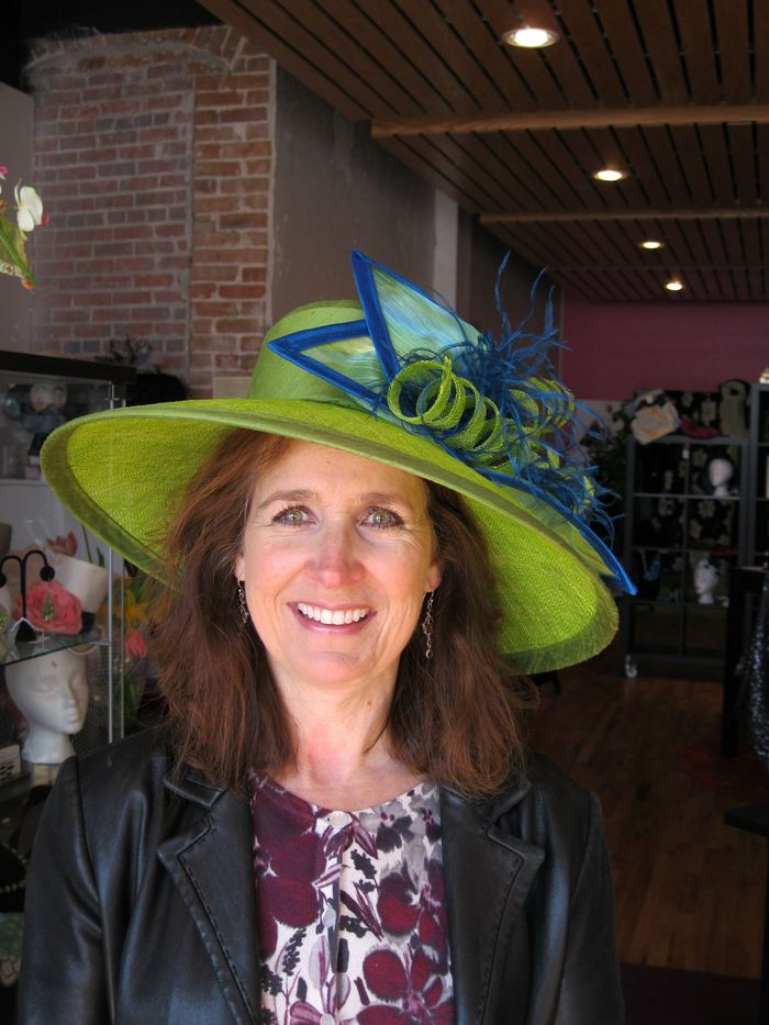 Shirley's custom Derby hat- She went to Kentucky with it!