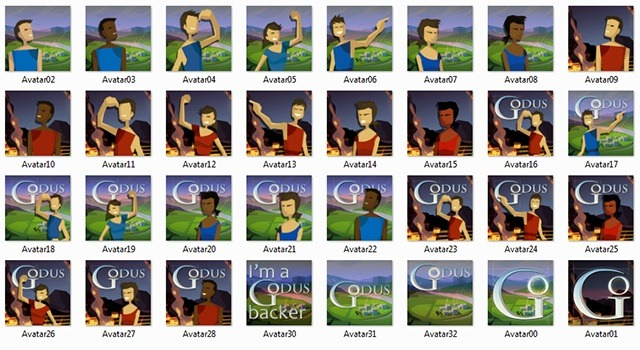 Godus Avatars for our backers