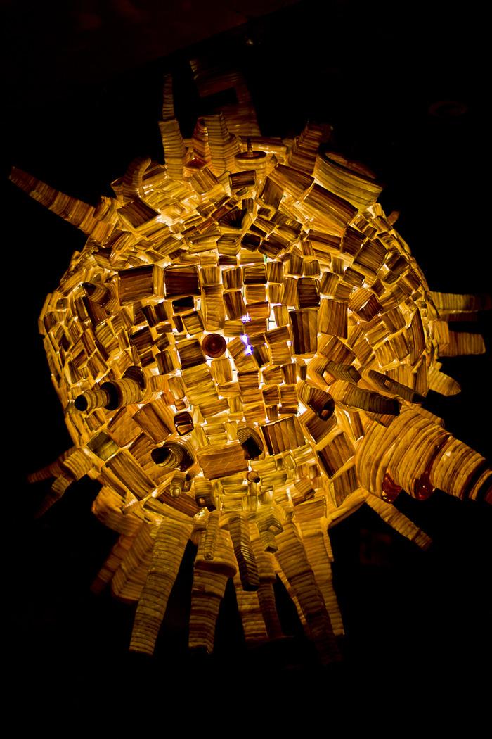 Our Globe Lamp! (3 ft. in diameter)