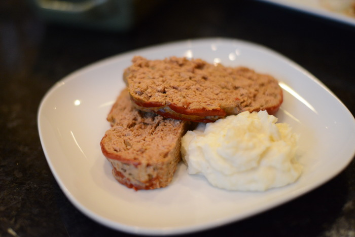 Turkey Meatloaf and Mashed Potatoes.  It makes you feel oh-so-good inside!