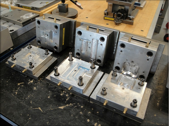 Injection molding tool at the manufacturing facilities