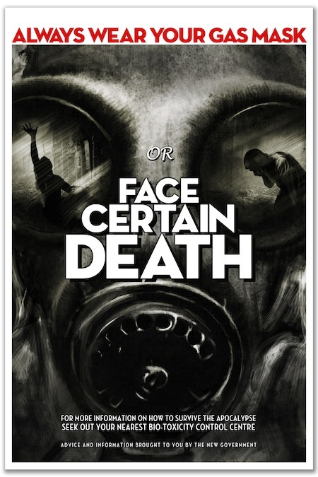 Poster C: 'Face Certain Death' by Oliver Polanski (A1 size)