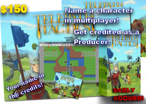 At $150, you'll not only get to name a character in multiplayer, you'l also be listed as a Producer in the game's credits!