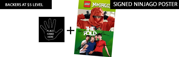 signed digital poster for Ninjago, featuring us (available to all backers $5+)