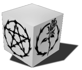 Computer Model of the Mystic Rose theme (Art by Bree Orlock)