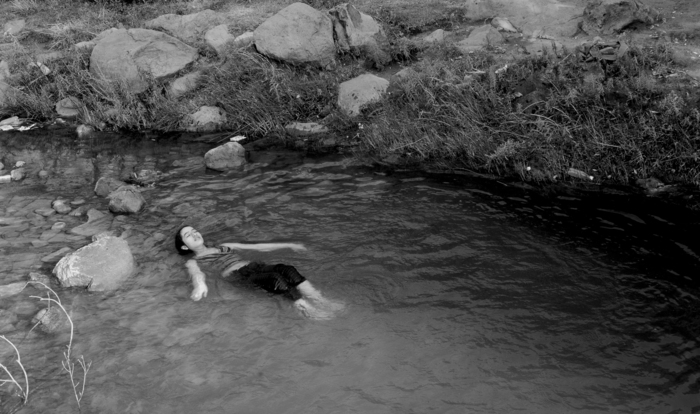Woman in Water, Yemen