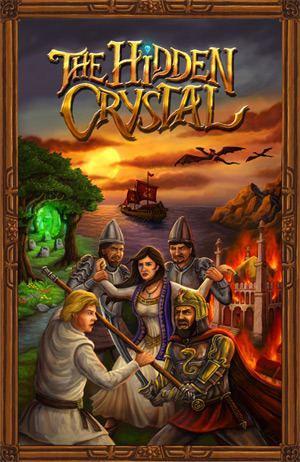 """11.25"""" x 17.3"""" glossy poster print of The Hidden Crystal front cover art"""