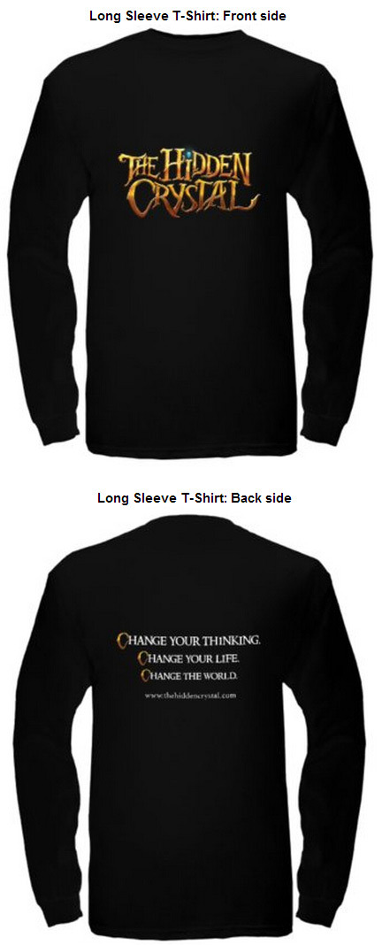 Front and back of long sleeve t-shirt. Available in men, women, and child size.