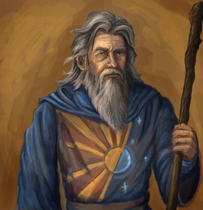 "Printed 12""x13"" portrait of the wizard Joran"
