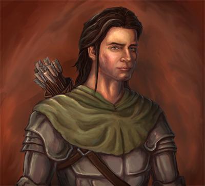 "Printed 12""x13"" portrait of Samson the knight"