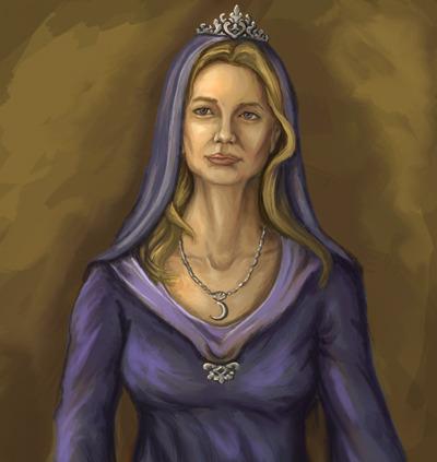 "Printed 12""x13"" portrait of the High Priestess"