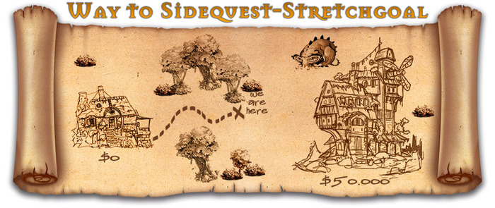 We will add an additional, backer-exclusive sidequest that will unlock a hidden and very special eighth character once we reach $50,000.