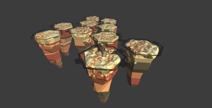 tile cluster.