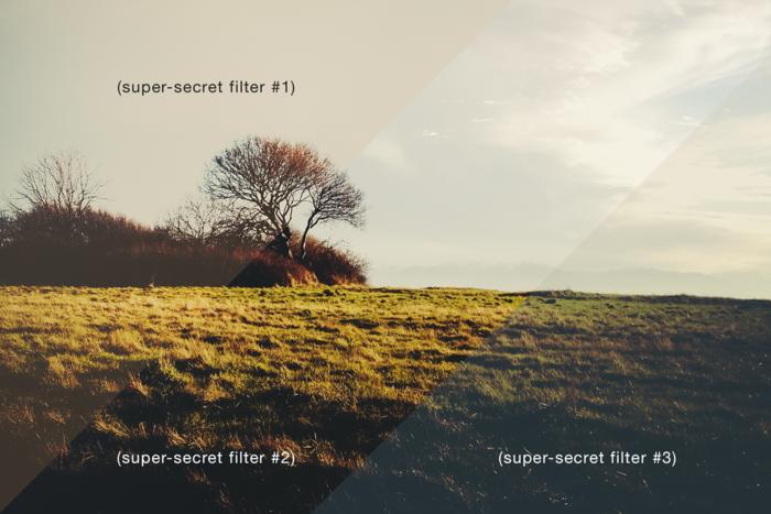 super-secret photo filters