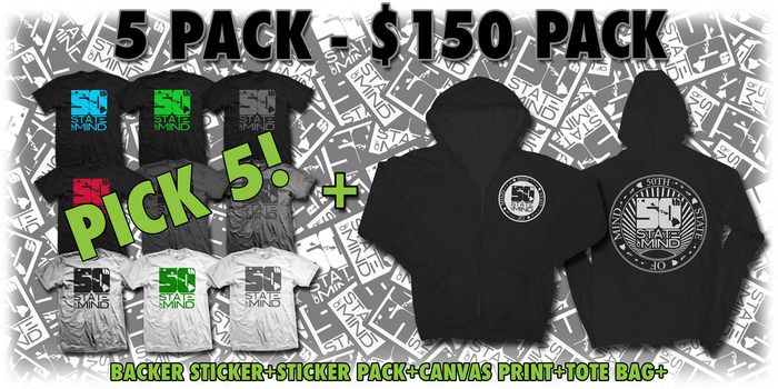 5 Pack - $150 Package (WOMEN'S LOGO TEE'S INCLUDED)