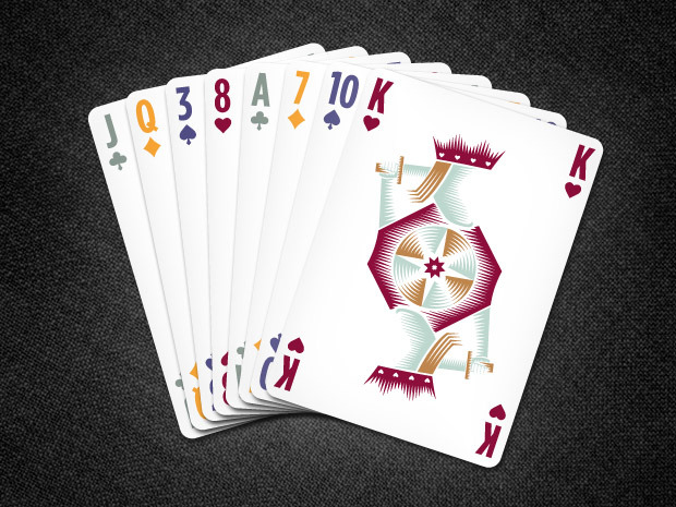 Card Fan (Solar Edition) - easy-to-read indexes and 4-color suits are ideal for any card game