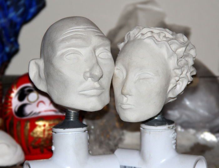 Sculptures in Paperclay