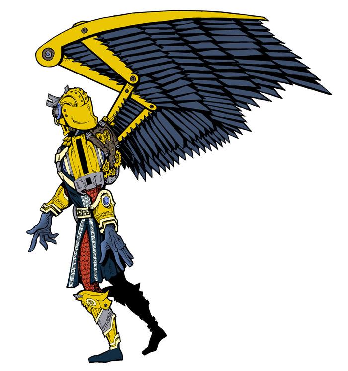 Prince Tanab armor & wing concept