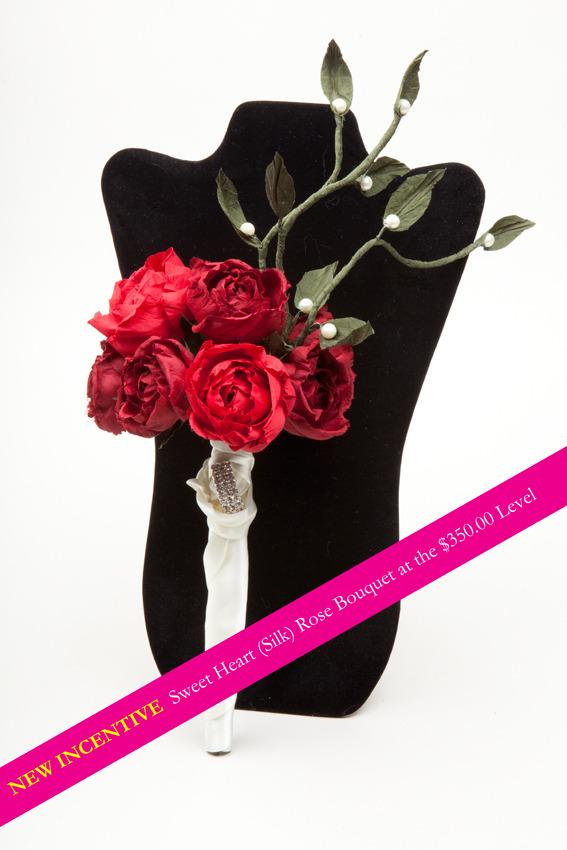 Sweetheart rose bridal bouquet... NEW REWARD!