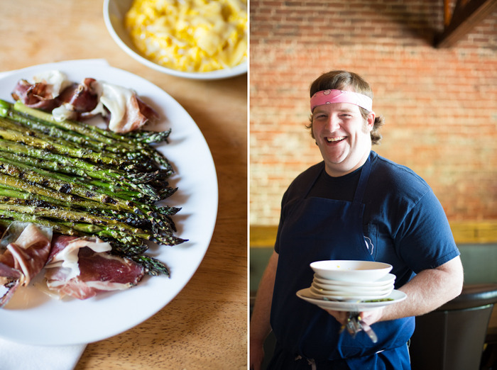Harrison, with Scrambled Eggs, Asparagus, and Speck