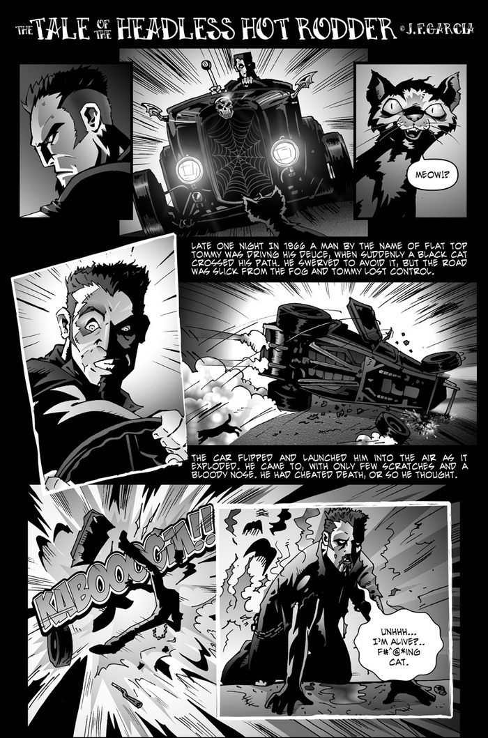 Healess Hot-Rodder by Juan Garcia