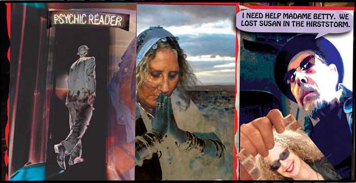 Panel detail, issue #4, page 4 featuring artist/ filmaker Betty Esperanza.
