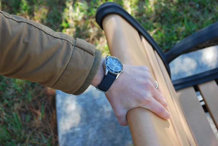 Heritage Watch with our Solid Canvas Band
