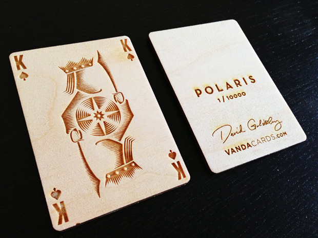 Small Wooden Card -- included with $15 and $80 pledge levels -- add $5 per additional wooden card with blank back ($6 international)