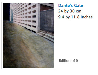 Dante's Gate limited edition print  by Ria Vanden Eynde. ($300 level)