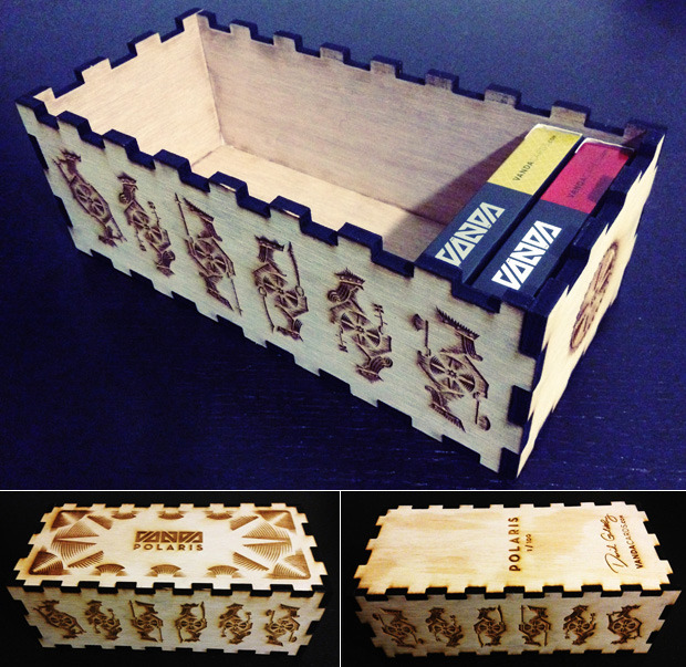 Polaris 12-Deck Wooden Box (w/ laser-engraved signature and serial number) -- Add $60 ($70 international)