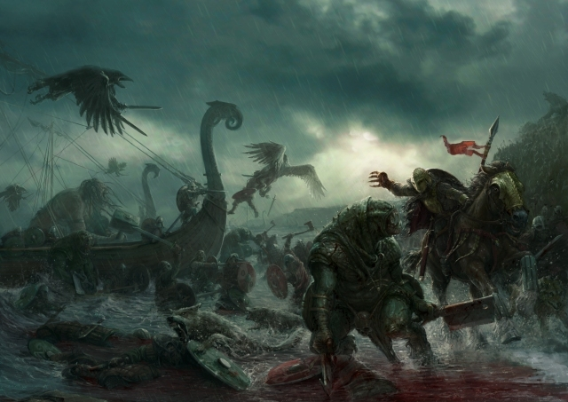 The amazing Darklands rules artwork by Stefan Kopinski - click for a very large version!