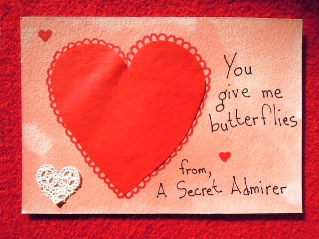 One of the Secret Admirer postcards.