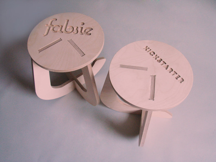 Personalised Stools can have any logo, text or drawing on them. What will you choose?