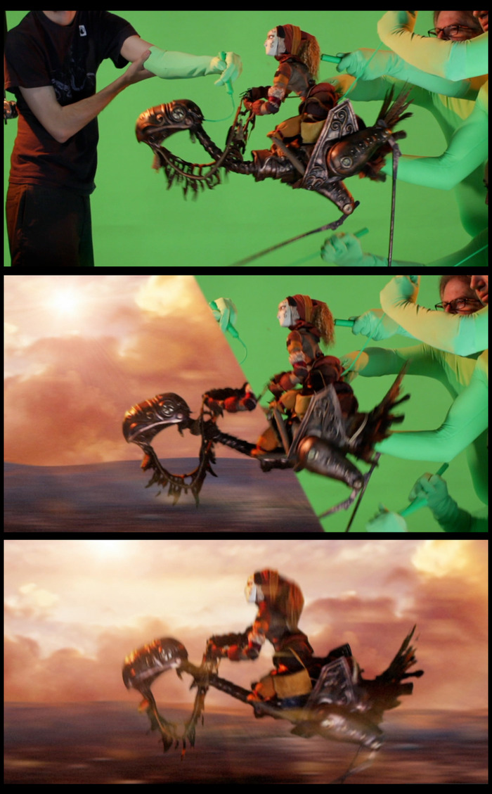 """Before/After: Making Puppeteers Invisible in """"Yamasong"""""""