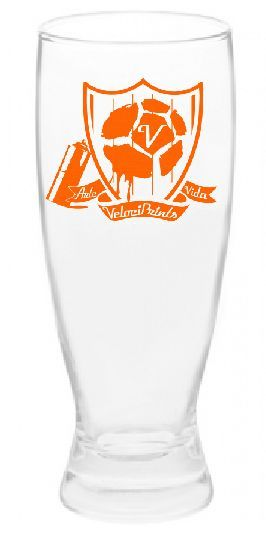 The official pint glass of our little soccer art party