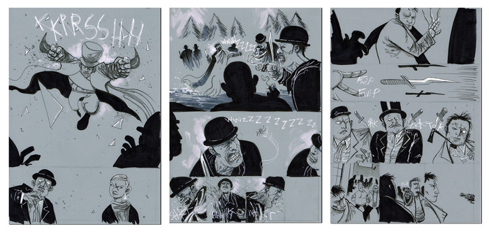SEIZING DESTINY. Own an original, hand-drawn page of Hatter M by comic legend Ben Templesmith!