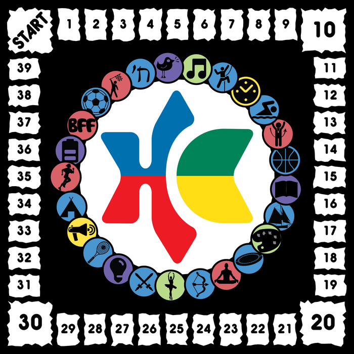 The Scoreboard has every skill and ability symbol from the game arranged in a ring around the Bikkurim in a Box logo.  The fact that we need that many is a testament to how diverse and amazing our staff are at Herzl!