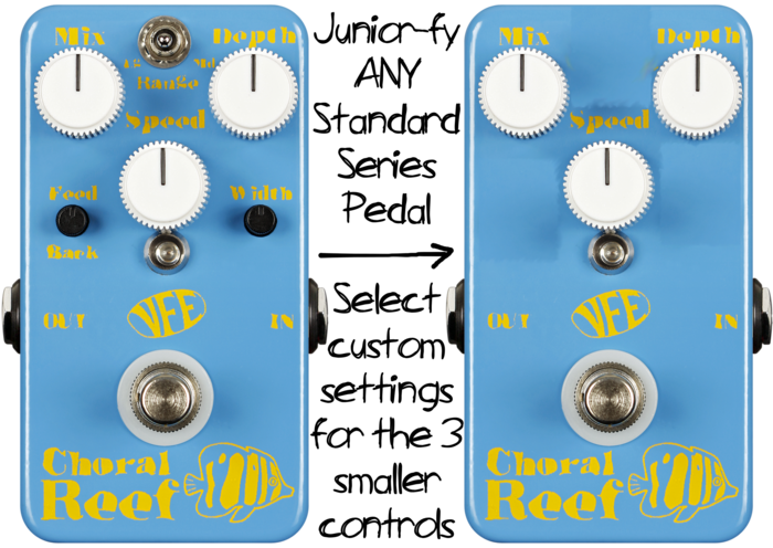 "Note: ""Junior-fied"" standard series pedals will use hand-painted text"