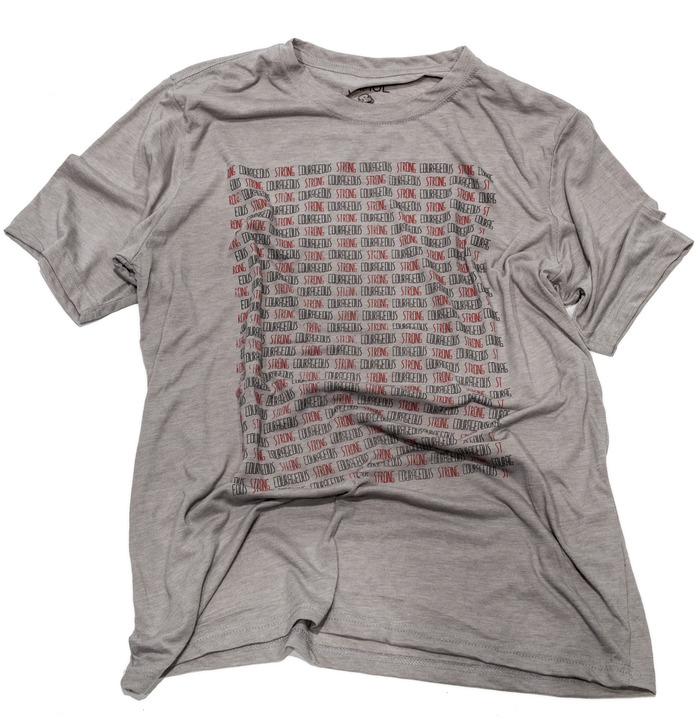 """Strong and Courageous - Shirt inspiration: Joshua 1:7;9 - Shirt text: """"Strong Courageous"""" (repeating)"""