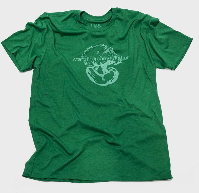 """Start the Conversation - Shirt inspiration: 1 Peter 3:15 - Shirt text - """"Start the conversation"""""""
