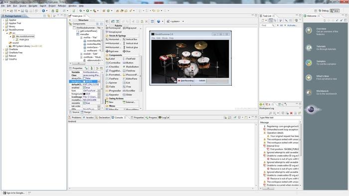 Preliminary GUI inside of my IDE