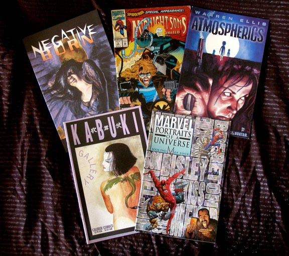 Comic books in which Ken's art has appeared