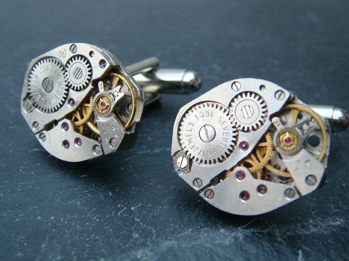Type D watch movement cufflinks (only 25 sets available)