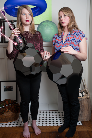 An Important Portrait of my sister Natasha and her wife Zena revealing their inner essence (a natal aspiration to have intertwined onyx cyborg baby wombs)