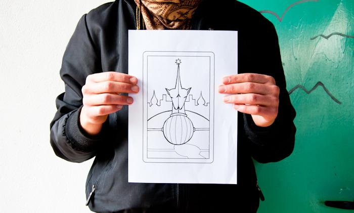 Handmade ink drawing of Primary Intùitis