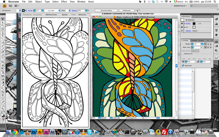 Digitization step and coloring