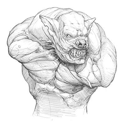 Ghoul Bust Concept, Art by Jordan Abernethy