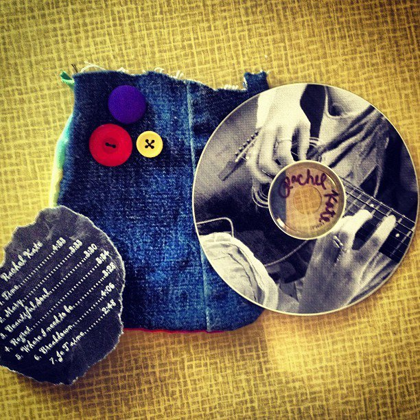 Rachel Kate's first home made cd from, i dunno, 2k8! Handmade packaging too and a track list?! WHAT?!