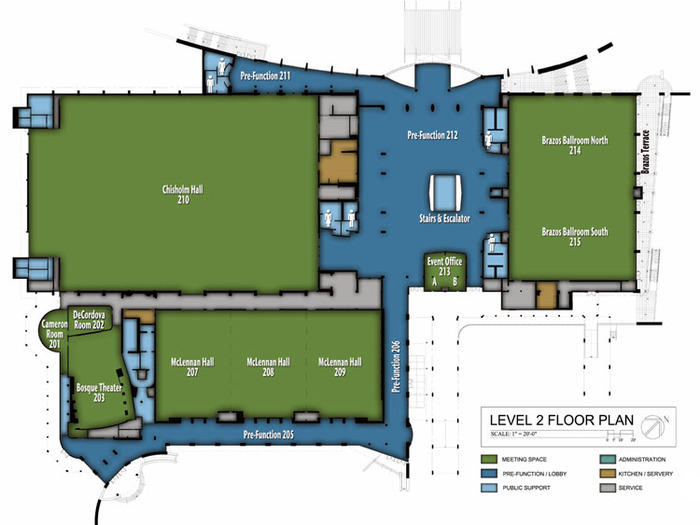 We've got Chisholm Hall, McLennan Hall, and the Cameron Room (VIP) - 49,000 sq. ft. of space.  And more space is available on this and other floors if we raise more funds.